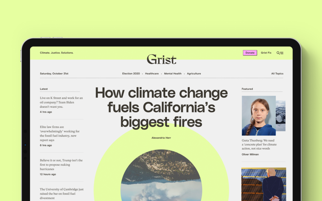 Q&A with Grist: Covering Climate in 2021